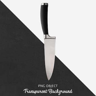 Faca de cozinha com alça preta transparente