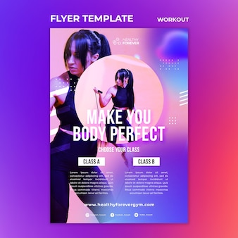 Faça do seu corpo um modelo de flyer perfeito