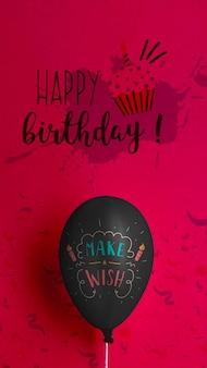 Faça um balão de desejos e parabéns