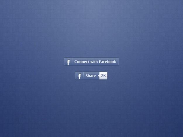 Facebook botões para compartilhar e se conectar