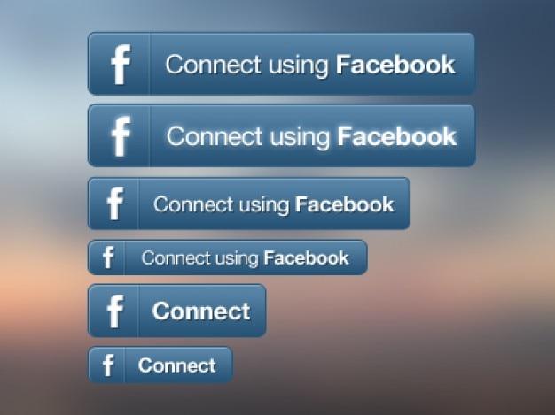 Facebook social media buttons