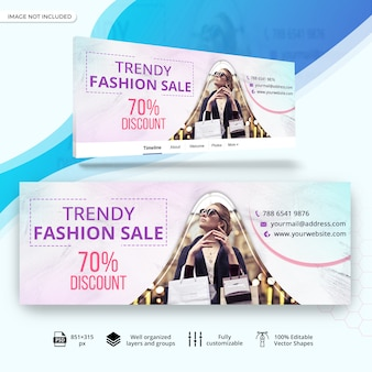 Fahion sale facebook timeline cover banner