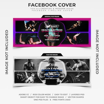 Faixa de cobertura do cronograma de facebook de fitness