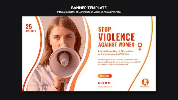 Faixa de conscientização sobre violência contra mulheres