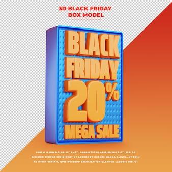 Faixa de promoção 3d preta sexta-feira com desconto de promoção
