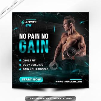 Faixa fitness post premium