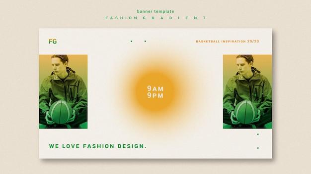 Faixa horizontal gradiente de moda
