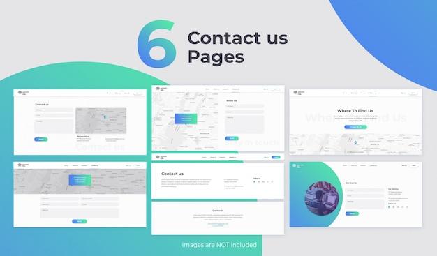 Fale conosco páginas da web