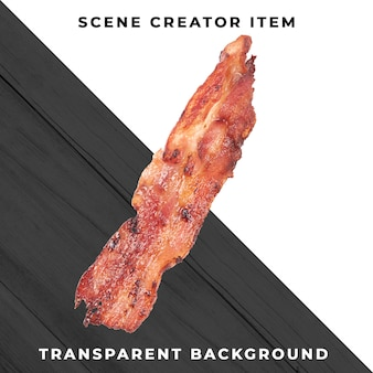 Fatia de carne transparente psd