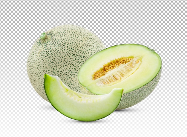 Fatia de melão isolada