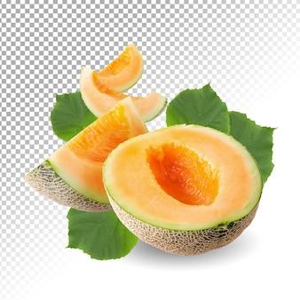 Fatia de melão japonês isolada