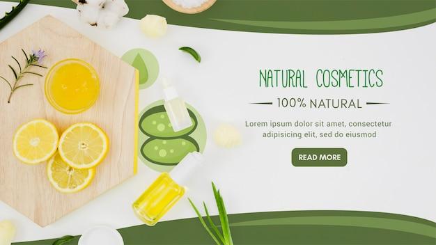Fatias de limão com óleo orgânico