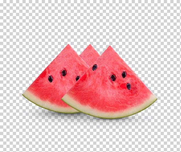 Fatias de melancia isolada