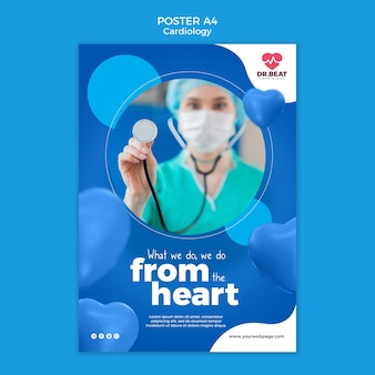 Fazemos isso do modelo de pôster de coração