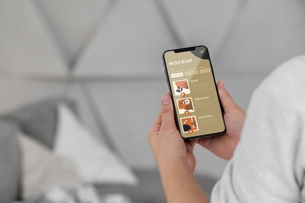 Fechar o celular no quarto Psd Premium