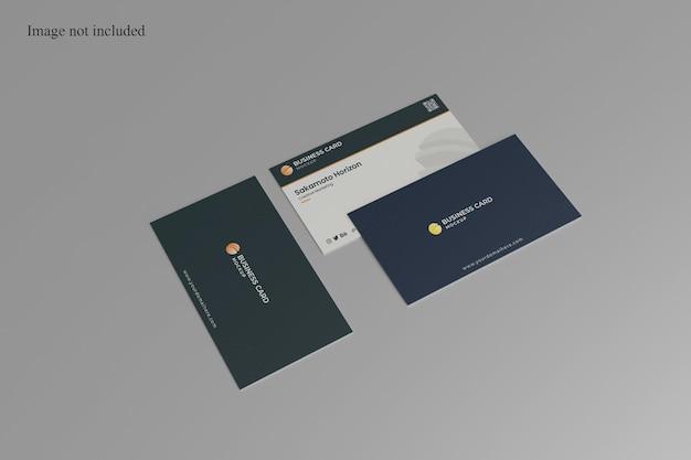 Feche a maquete do cartão de visita