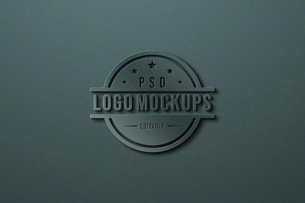 Feche a maquete do logotipo