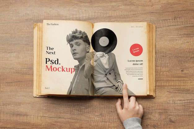 Feche o dedo apontando para o livro