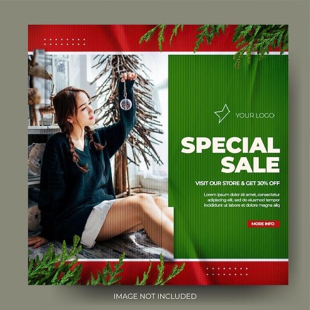 Feed de postagens do instagram para venda de natal