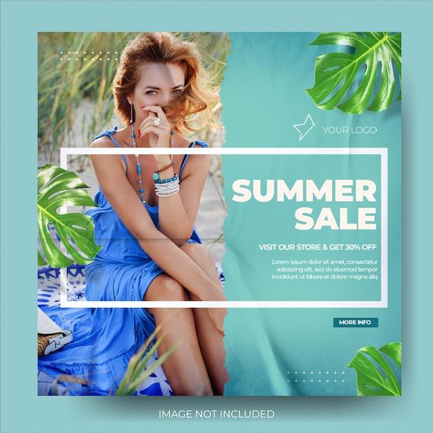 Feed dinâmico de postagens de venda de verão de moda