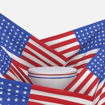 Feliz 4 de julho dia da independência dos eua com decoração e bandeira americana