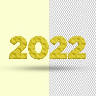 Feliz ano novo 2022 efeito de texto de renderização 3d premium psd