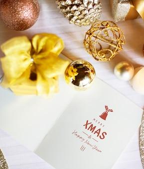 Feliz ano novo, celebração, cartão, relaxamento, conceito