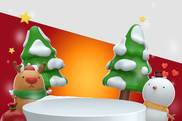 Feliz ano novo design de maquete de renderização 3d