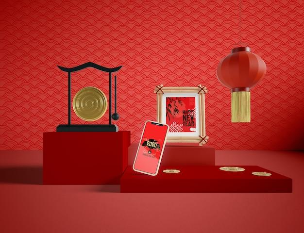 Feliz ano novo ilustração estilo oriental