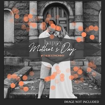 Feliz dia das mães saudação instagram post template