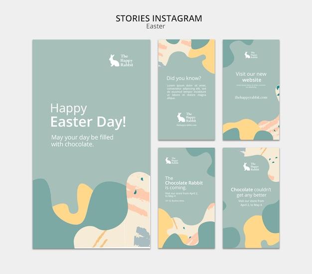 Feliz dia de páscoa com histórias do instagram