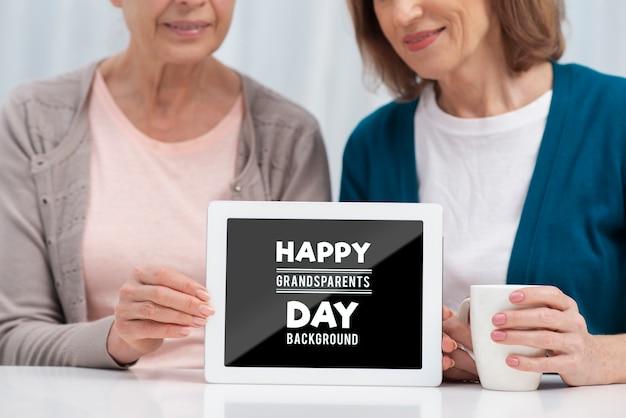Feliz dia dos avós conceito
