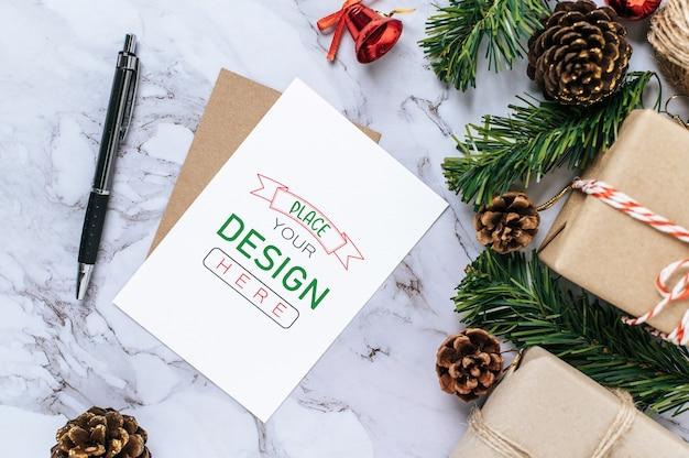 Feliz natal cartão psd