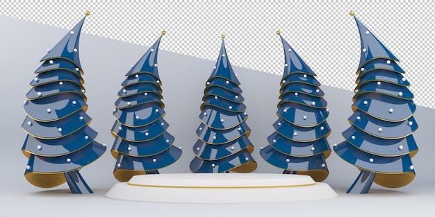 Feliz natal e feliz ano novo, exibição de renderização em 3d