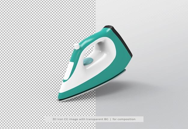 Ferro a vapor em renderização 3d isolado
