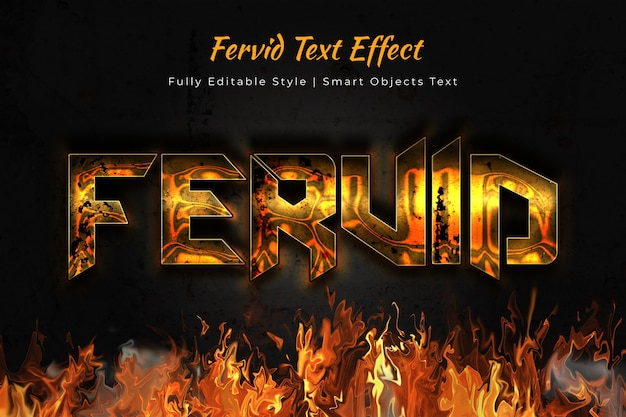Fervid text effect