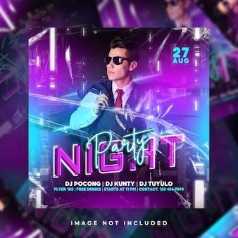 Festa à noite flyer party