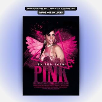 Festa de dança noite rosa