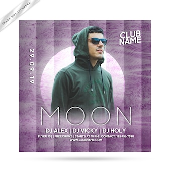 Festa de panfleto de lua
