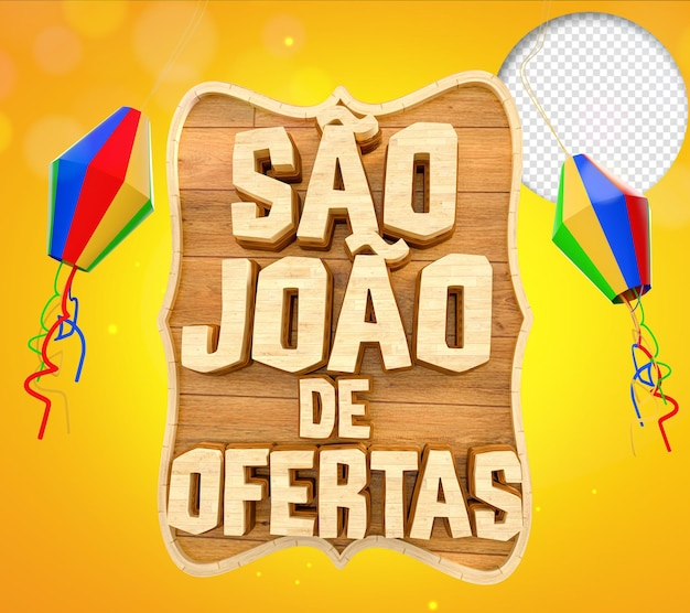 Festa junina de sao joao brazil renderização 3d realista