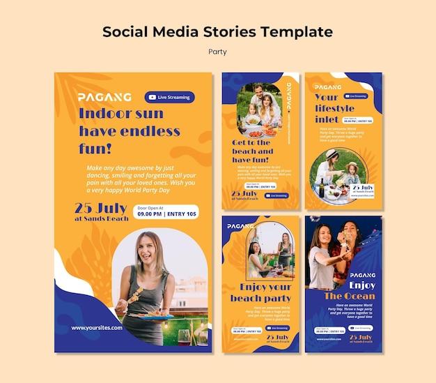Festeje histórias de mídia social com transmissão ao vivo