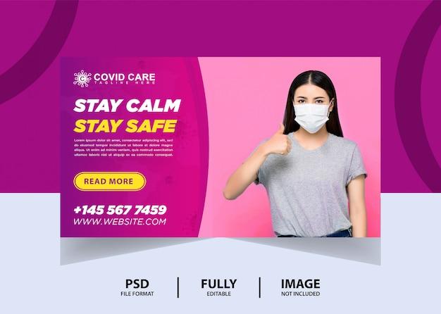 Fique calmo design de banner de site
