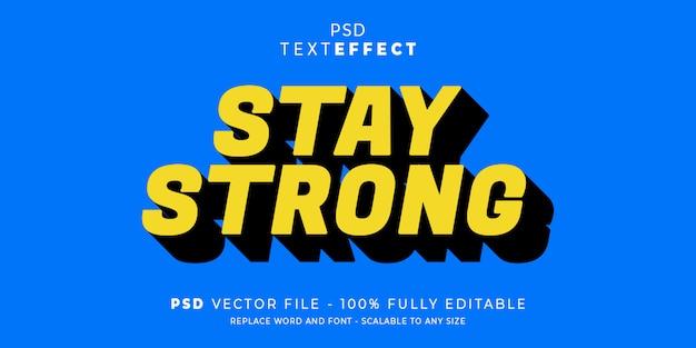 Fique efeito de texto stront