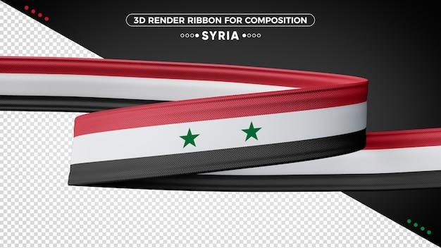 Fita de renderização 3d da síria para composição