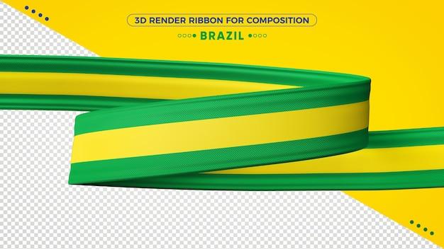 Fita de renderização 3d do brasil para composição