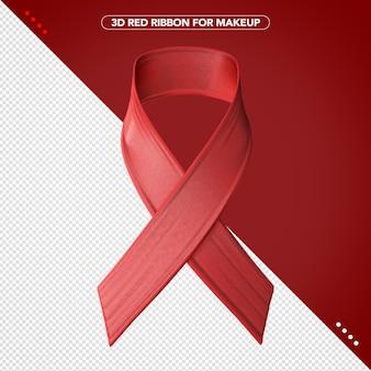 Fita vermelha 3d para maquiagem