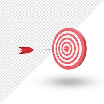 Flecha acertando o alvo