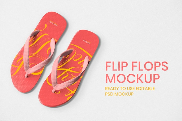 Flip-flops mockup psd verão calçados fashion