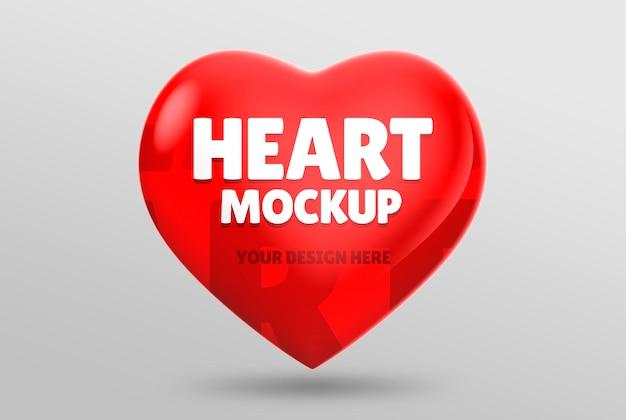 Floating heart mockup