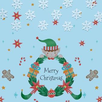Flocos de neve com conceito de feliz natal